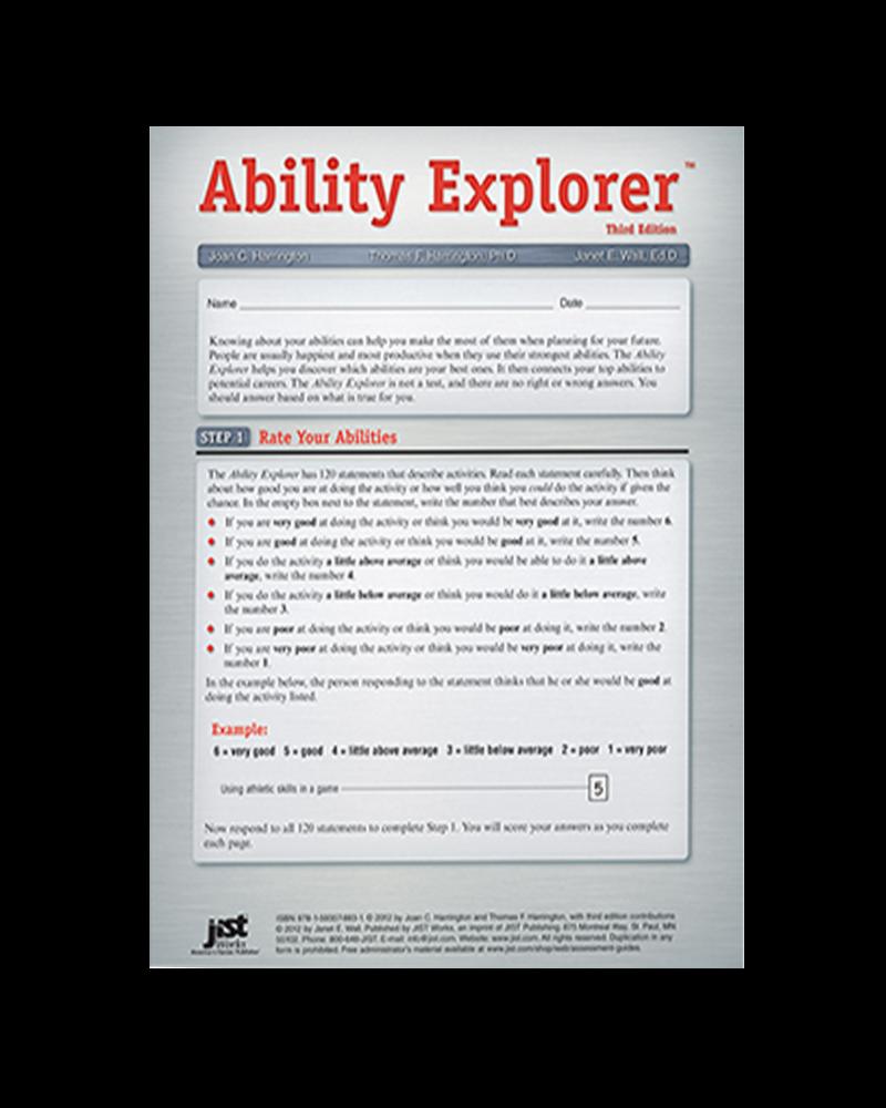Ability Explorer Assessment