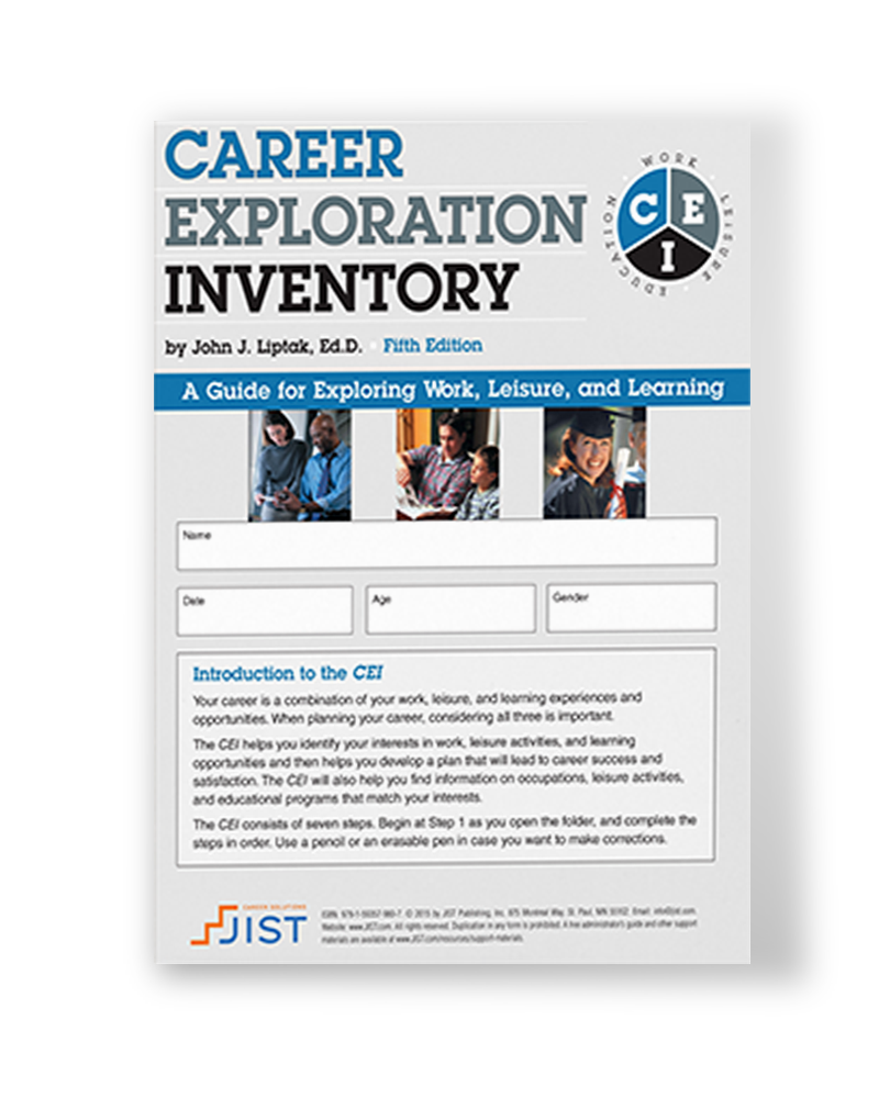 Career Exploration Inventory: A Guide for Exploring Work, Leisure and Learning