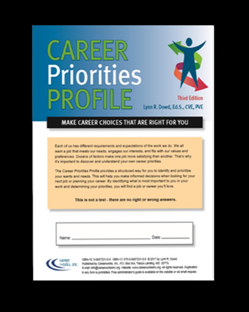 Career Priorities Profile Assessment